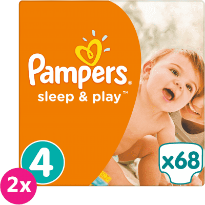 2x PAMPERS Sleep & Play 4 MAXI 68 ks (8-14 kg) JUMBO PACK - jednorázové plienky