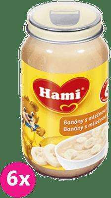 6x HAMI desiata banány s mliečnou ryžou 190g