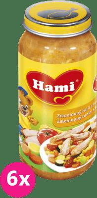 6x HAMI zeleninový talíř s kuřetem (250 g) - maso-zeleninový příkrm