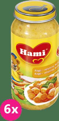 6x HAMI ragú - zelenina, kuře, špenát (250 g) - maso-zeleninový příkrm