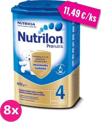 8x NUTRILON 4 ProNutra (800 g) - dojčenské mlieko