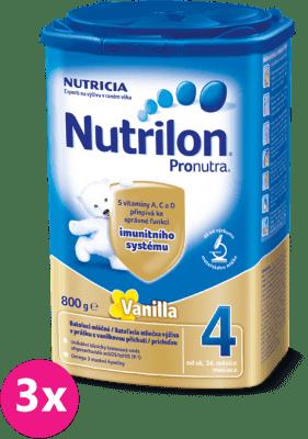 3x NUTRILON 4 ProNutra s príchuťou vanilky (800g) - dojčenské mlieko
