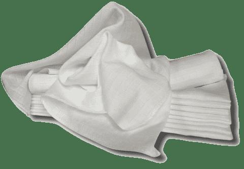 Libštátské pleny Detská bavlnená plienka, 70x70 cm, biela, 10 ks
