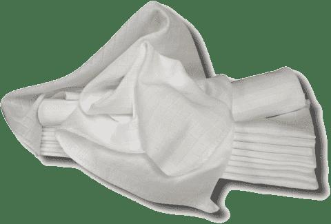 Libštátské pleny Detská bavlnená plienka, 80x80 cm, biela, 10 ks
