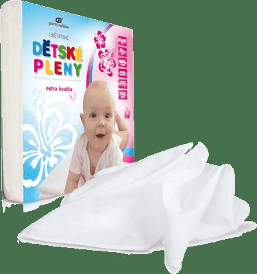 Libštátské pleny Dětská bavlněná plena Extra kvality, 80x80 cm, bílá, 10 ks