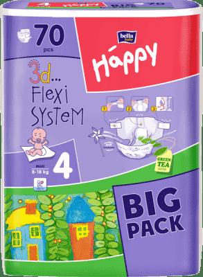 BELLA HAPPY Maxi (8-18 kg) Big Pack 70ks - jednorázové pleny