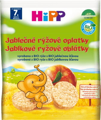 HIPP BIO jablečné rýžové oplatky pro děti (30 g)