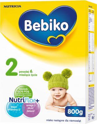 BEBIKO 2 NutriFlor+ (800g) - Mleko modyfikowane dla dzieci po 6. miesiącu