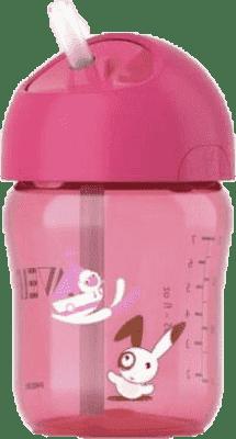 AVENT Hrnček so slamkou 260 ml ružový