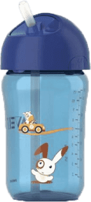 AVENT Hrnček so slamkou 340 ml modrý