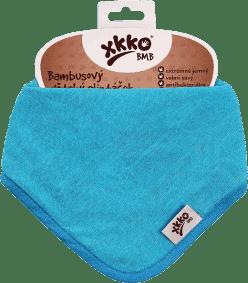 KIKKO Bambusový slintáček/šátek Colours (1 ks) – cyan