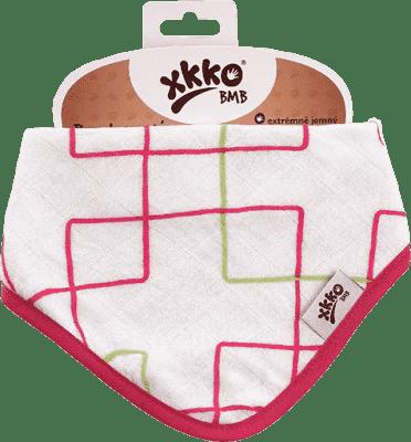 KIKKO Bambusový slintáček/šátek – Magenta Squares