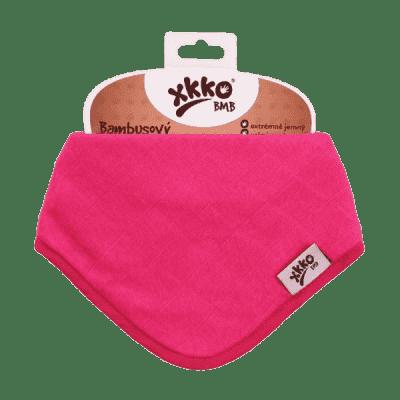 KIKKO Bambusový slintáček/šátek Colours (1 ks) – magenta