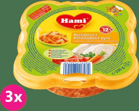 3x HAMI Malý Gurmán: Paradajkové pyré s makarónmi a kuracím 230 g