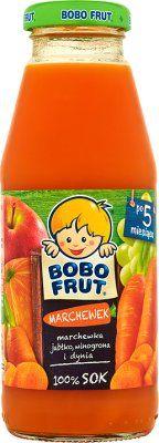 BOBO FRUT Marchewek (300 ml) – Sok marchewka, jabłko, winogrona i dynia