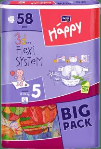 BELLA HAPPY Junior Big Pack (12-25 kg) 58ks - plienky pre deti