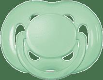 AVENT Cumlík Sensitive 1ks (silikón) 6-18 m, zelený