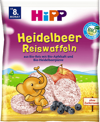 HIPP BIO Čučoriedkové ryžové oplátky pre deti 30 g