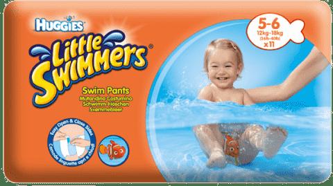HUGGIES® Little Swimmers veľ. 5-6 (12-18 kg), 11 ks - jednorázové plienky do vody