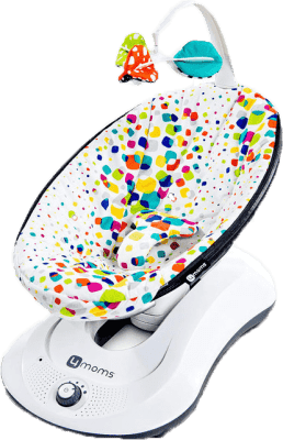 4MOMS rockaRoo™ Lehátko Plush Multicolor