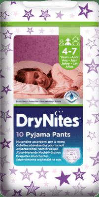 HUGGIES® DryNites pro dívky 4-7 let (17-30 kg), 10 ks - kalhotkové pleny