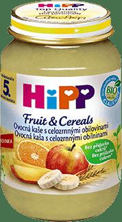 HIPP BIO Ovocná kaše s celozrnnými obilovinami (190 g) - ovocný příkrm