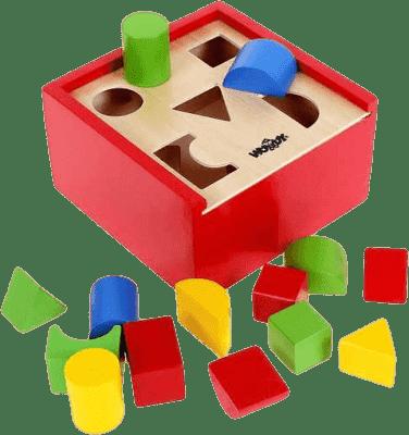 WOODY Pudełko z klockami, małe