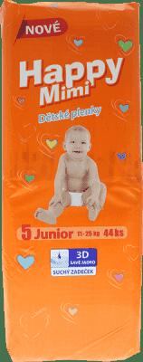 HAPPY MIMI dětské pleny Standard Junior 44 ks
