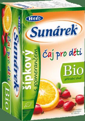 SUNÁREK BIO detský čaj Šípkový s pomarančom (20x1,5 g)