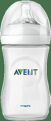 AVENT Dojčenská fľaša Natural 1m+, 260 ml (PP), 1 ks, biela