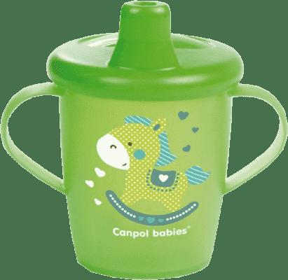 CANPOL Babies Nevylévací hrníček Anywayup – zelený 250ml