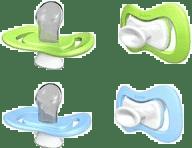 iiamo piece dudlík 2 ks - zelená/modrá 0-6m