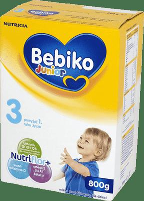 BEBIKO Junior 3 NutriFlor+ (800g) - Mleko modyfikowane powyżej 1. roku