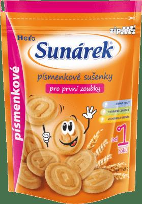 SUNÁREK Dětské sušenky písmenkové (150 g)