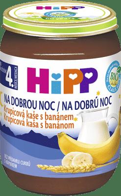 HIPP BIO Na dobrú noc krupicová s banánom (190 g) - mliečna kaša