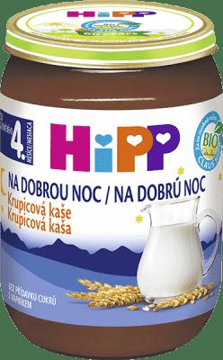 HIPP BIO Na dobrú noc krupicová (190 g) - mliečna kaša