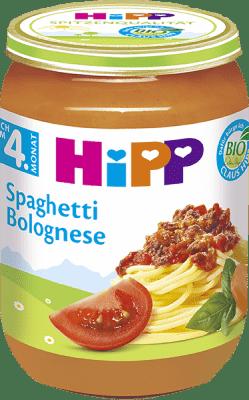 HIPP BIO Špagety v bolonskej omáčke 190 g - mäsovo-zeleninový príkrm