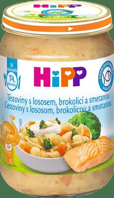 HIPP Cestoviny s lososom, brokolicou a smotanou (250 g) - maso-zeleninový príkrm