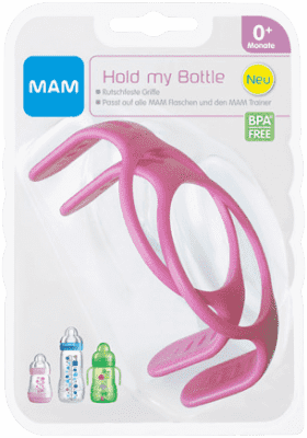 MAM Úchytky/držadlá na fľaše 2ks ružové - náhodný motív