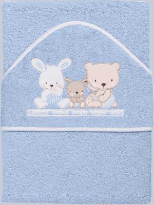 INTERBABY Ręcznik dla dziecka frotte 100x100 love – niebieski