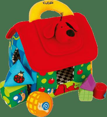 K´S KIDS Veľký farebný domček Patrick pre rozlišovanie geometrických tvarov