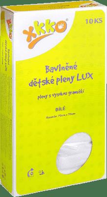 KIKKO Bawełniana pieluszka o wysokiej gramaturze Lux 70x70 (10 szt.) – biała