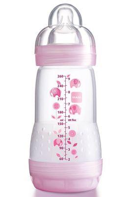 MAM Láhev Anti Colic, savička vel.2, (260 ml) růžovo-fialová – náhodný motiv