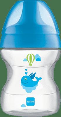 MAM Learn to Drink Cup - hrnek na učení 6+ měsíců, 190 ml modrý – náhodný motiv