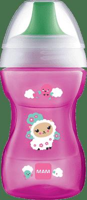 MAM Hrnek na učení Fun to drink cup 8m+ 270ml růžový – náhodný motiv