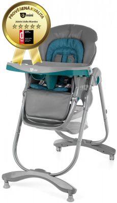 c415558f0131 G-MINI Detská jedálenská stolička Mambo – lazulit