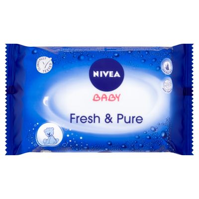 NIVEA Baby Fresh&Pure 63 ks - vlhčené ubrousky