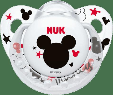 NUK Smoczek Trendline DISNEY-Mickey, silikon, rozmiar 2 (6-18 mies.) – biały