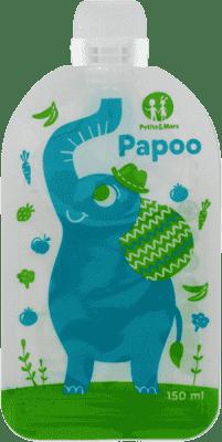 PETITE&MARS Kapsička na jídlo Papoo Slon - 6 ks
