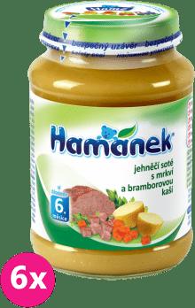 6x HAMÁNEK Jahňacie soté s mrkvou a zemiakovou kašou (190 g) - mäsovo-zeleninový príkrm